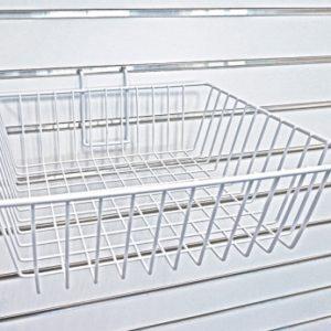 """Slatwall Wire Basket - 12"""""""