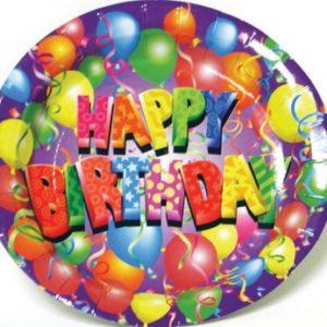 """Balloon Birthday 9"""" Plate"""