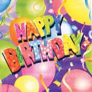 Balloon Birthday Napkins