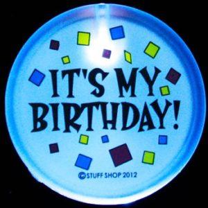 Flashing It's My Birthday Badge