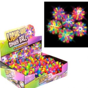 "Lightup Rainbow Spiky Ball - 4"""